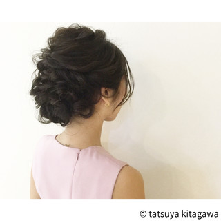 大人女子 外国人風 花嫁 セミロング ヘアスタイルや髪型の写真・画像