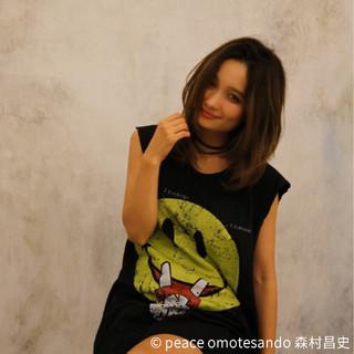 外国人風 グラデーションカラー ミディアム モテ髪 ヘアスタイルや髪型の写真・画像