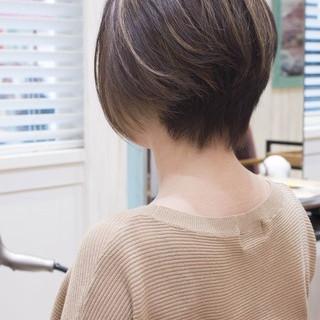 大人かわいい ボブ ショートボブ ナチュラル ヘアスタイルや髪型の写真・画像