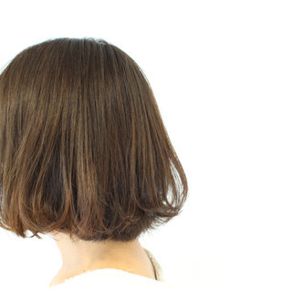 グラデーションカラー アッシュ 暗髪 ボブ ヘアスタイルや髪型の写真・画像