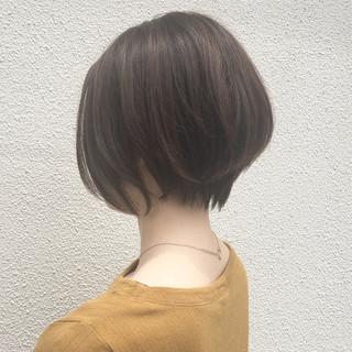 ショート 大人女子 オフィス ナチュラル ヘアスタイルや髪型の写真・画像