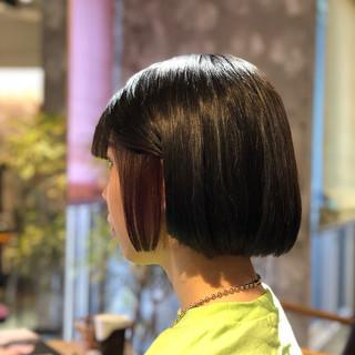 モード ボブアレンジ 外国人風カラー ヘアカラー ヘアスタイルや髪型の写真・画像