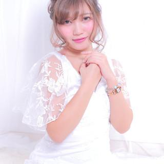 撮影 結婚式ヘアアレンジ エレガント ゆるふわセット ヘアスタイルや髪型の写真・画像