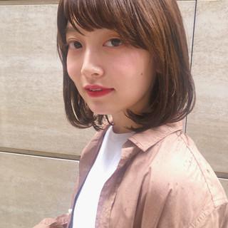 外ハネボブ タンバルモリ ナチュラル ボブ ヘアスタイルや髪型の写真・画像
