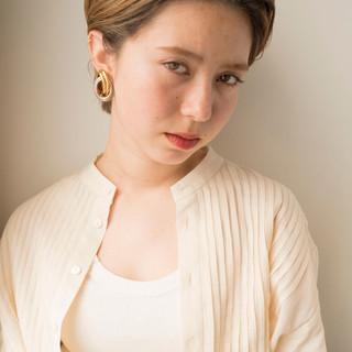 モード ベージュ 透明感カラー ブリーチ ヘアスタイルや髪型の写真・画像