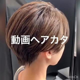 ミニボブ ベリーショート ショートボブ ショートヘア ヘアスタイルや髪型の写真・画像