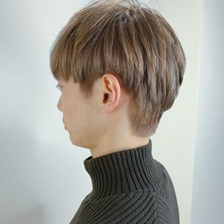 メンズ ショート ベージュ メンズカラー ヘアスタイルや髪型の写真・画像
