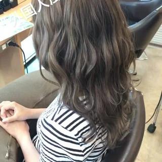 透明感 フェミニン セミロング 外国人風カラー ヘアスタイルや髪型の写真・画像