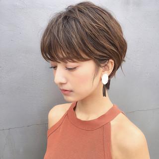 アンニュイ ショート リラックス 色気 ヘアスタイルや髪型の写真・画像