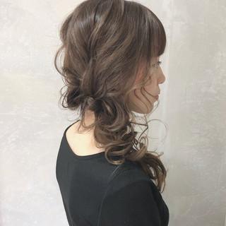 ロング デート ヘアアレンジ フェミニン ヘアスタイルや髪型の写真・画像 ヘアスタイルや髪型の写真・画像