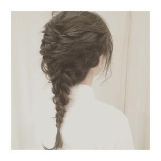 ミディアム ヘアアレンジ 簡単ヘアアレンジ くるりんぱ ヘアスタイルや髪型の写真・画像 ヘアスタイルや髪型の写真・画像