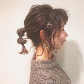 ヘアアレンジ ガーリー 外国人風カラー 簡単ヘアアレンジ ヘアスタイルや髪型の写真・画像