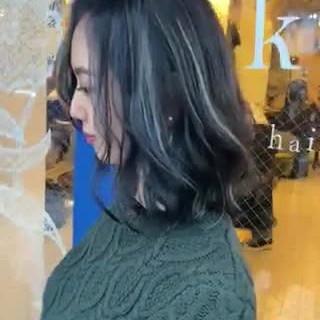 ナチュラル ハイライト ミディアム 3Dハイライト ヘアスタイルや髪型の写真・画像