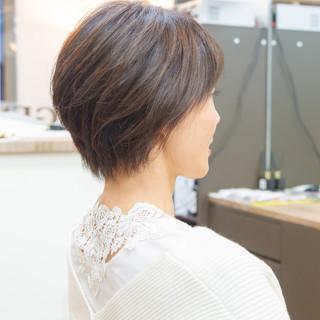 大人かわいい かわいい ヘアオイル ショート ヘアスタイルや髪型の写真・画像