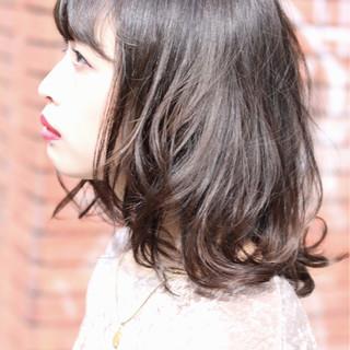 透明感 秋 ハイライト 大人かわいい ヘアスタイルや髪型の写真・画像