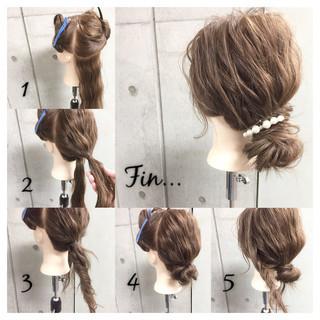 ヘアアレンジ 簡単ヘアアレンジ 大人女子 お団子 ヘアスタイルや髪型の写真・画像