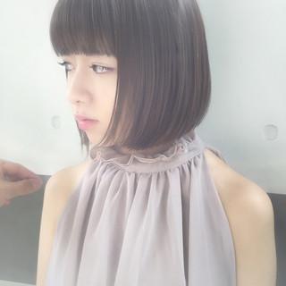 かわいい 色気 透明感 ボブ ヘアスタイルや髪型の写真・画像
