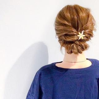 デート 結婚式 アウトドア ヘアアレンジ ヘアスタイルや髪型の写真・画像