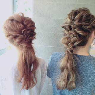 ロング 簡単 簡単ヘアアレンジ ショート ヘアスタイルや髪型の写真・画像 ヘアスタイルや髪型の写真・画像