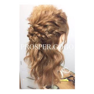 ミディアム ショート ハーフアップ ゆるふわ ヘアスタイルや髪型の写真・画像