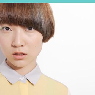 モード スモーキーカラー 3Dカラー ショート ヘアスタイルや髪型の写真・画像 ヘアスタイルや髪型の写真・画像