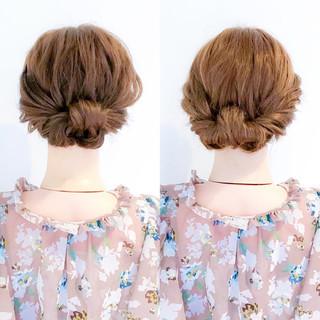 オフィス ロング フェミニン ショート ヘアスタイルや髪型の写真・画像