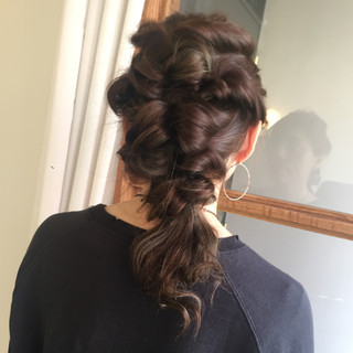 謝恩会 ヘアアレンジ 結婚式 くるりんぱ ヘアスタイルや髪型の写真・画像