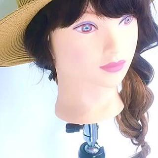 セミロング 女子会 デート 夏 ヘアスタイルや髪型の写真・画像