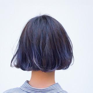 ゆるふわ ダブルカラー ショートボブ ハイライト ヘアスタイルや髪型の写真・画像