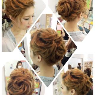 ヘアアレンジ ガーリー 二次会 大人女子 ヘアスタイルや髪型の写真・画像