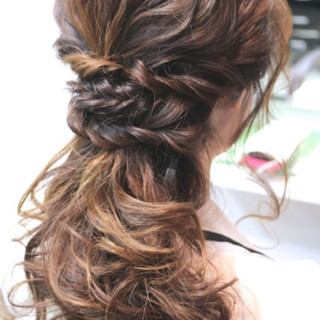 ゆるふわ ハイライト 簡単ヘアアレンジ ショート ヘアスタイルや髪型の写真・画像 ヘアスタイルや髪型の写真・画像