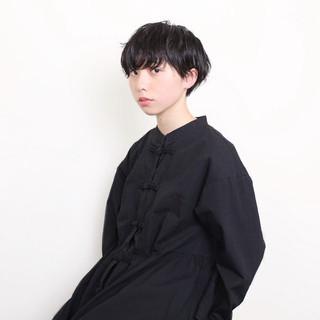黒髪 ショート ストリート ヘアスタイルや髪型の写真・画像