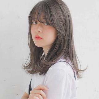 パーマ アンニュイほつれヘア セミロング 大人かわいい ヘアスタイルや髪型の写真・画像