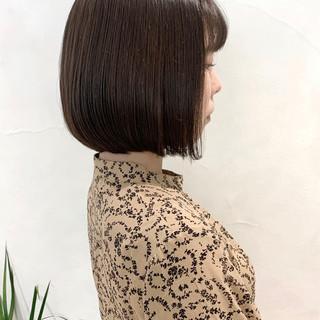 切りっぱなしボブ フェミニン ボブ ショートヘア ヘアスタイルや髪型の写真・画像