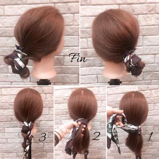ヘアアレンジ 時短 大人女子 ナチュラル ヘアスタイルや髪型の写真・画像 ヘアスタイルや髪型の写真・画像