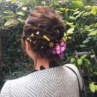 甘め フェミニン 謝恩会 結婚式 ヘアスタイルや髪型の写真・画像 ヘアスタイルや髪型の写真・画像