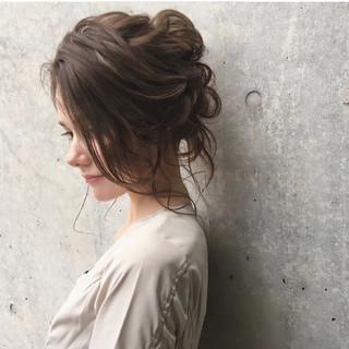 大人かわいい エレガント 大人女子 ヘアアレンジ ヘアスタイルや髪型の写真・画像