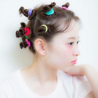 ショート ラフ ヘアゴム セミロング ヘアスタイルや髪型の写真・画像 ヘアスタイルや髪型の写真・画像