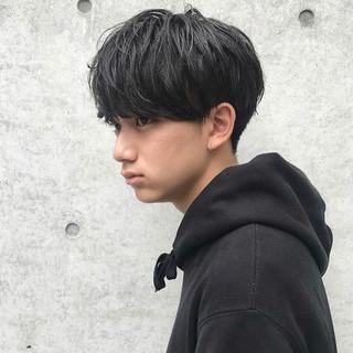 メンズヘア ショート ストリート 黒髪 ヘアスタイルや髪型の写真・画像