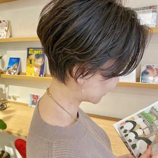 インナーカラー ショートボブ ショート ウルフカット ヘアスタイルや髪型の写真・画像