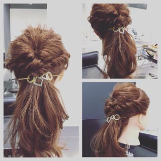 オフィス ヘアアレンジ 結婚式 簡単ヘアアレンジ ヘアスタイルや髪型の写真・画像