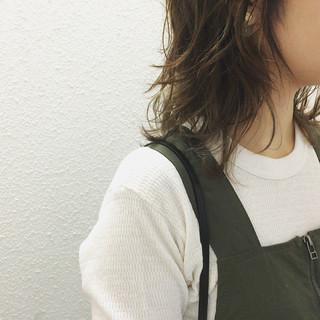 アンニュイ ストリート ウルフカット ミディアム ヘアスタイルや髪型の写真・画像