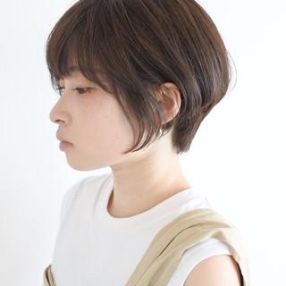 ショート 小顔ショート 外国人風 ナチュラル ヘアスタイルや髪型の写真・画像