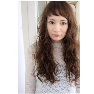 アンニュイ ショートバング 外国人風 ナチュラル ヘアスタイルや髪型の写真・画像