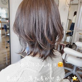 ナチュラル 透明感 レイヤーカット ボブヘアー ヘアスタイルや髪型の写真・画像