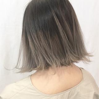 ボブ 外国人風 グラデーションカラー 外ハネ ヘアスタイルや髪型の写真・画像