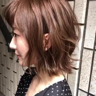 ゆるふわ 外国人風カラー ショート グレージュ ヘアスタイルや髪型の写真・画像