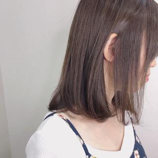 デート ヘアカラー 透明感カラー ナチュラル ヘアスタイルや髪型の写真・画像