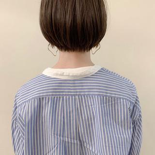 ナチュラル ショートヘア ミニボブ アンニュイほつれヘア ヘアスタイルや髪型の写真・画像