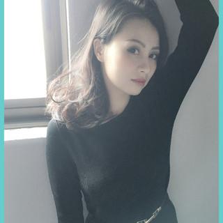 グラデーションカラー 暗髪 外国人風 黒髪 ヘアスタイルや髪型の写真・画像